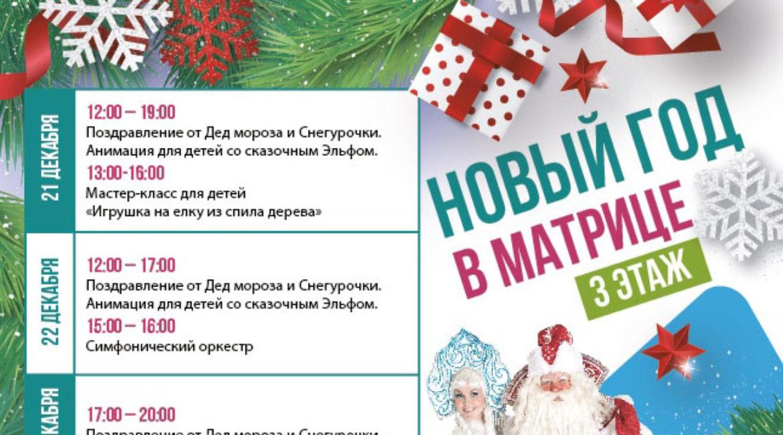 Новогодние мероприятия, 21-31 декабря, МОЛЛ Матрица